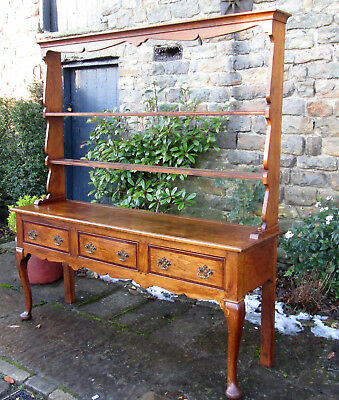 Georgian style welsh dresser country Pine Antique large plate rack