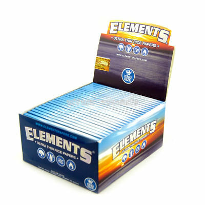 Elements King Size Rolling Paper - 25 PACKS - Natural Ultra Thin Rice