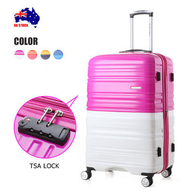 New Luggage Spinner Travel  Suitcase TSA Lock Trolley Carry On Bag Light Weight