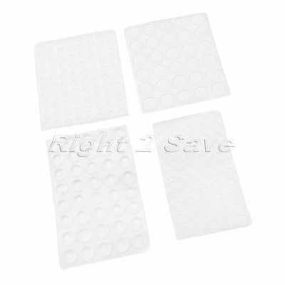 Self-Adhesive Furniture Door Silicon Rubber Buffer Stopper Damper Pad 1 Sheet