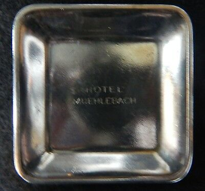 Hotel Muehlebach Silver Plated Butter Pat/Dish,Kansas City