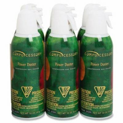 Compucessory Air Duster Cleaner, Moisture-free/Ozone Safe, 10oz, 6/PK (CCS24306)