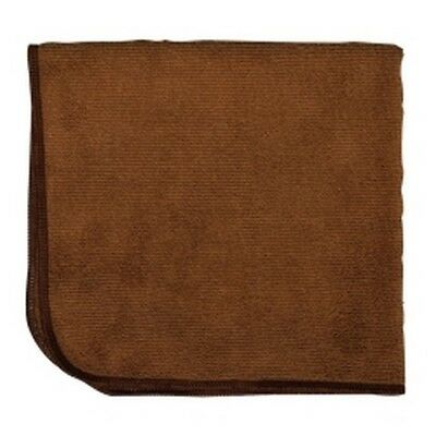 "Detailer's 16""x16"" Brown Microfiber Cloth, Bag of 12 MCFC300BRW Brand New!"