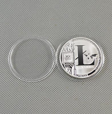 Silver Plated Commemorative Litecoin Collectible Golden Iron Miner Coin Gift 2SG