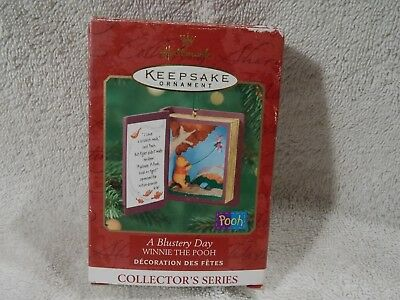 Vintage Collectible Hallmark Ornament Winnie The Pooh A Blustery Day #3-Christma