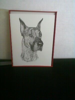 Brindle Great Dane Notecards With Envelopes