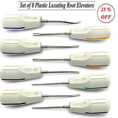 8Pcs Luxating Elevators Surgical Root Extracting Oral Surgery Tooth Instruments