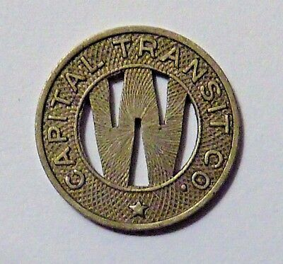 Vintage 1940's Transit Token: Capital Transit Co.~One Fare in the Dist. of Col.
