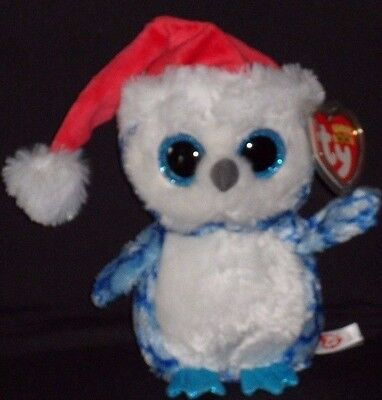 "TY BEANIE BOOS - ICICLES the 6"" HOLIDAY OWL - MINT with MINT TAG"
