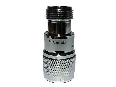 N type RF Attenuator, 50 Ohm, 5 W, 0-6 GHz, Options: 1, 3, 6, 10, 20, 30 dB