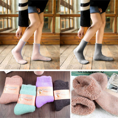 Winter Blend Socks  Girls Women's Wool Warm Soft Thick Solid Casual Thermal