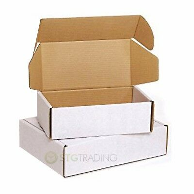 White Die Cut Folding Lid Cardboard Boxes Inc C4 C5 C6 PIP FULL RANGE OF SIZES