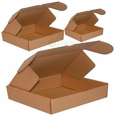 Brown Die Cut Folding Lid Cardboard Boxes Inc C4 C5 C6 PIP FULL RANGE OF SIZES