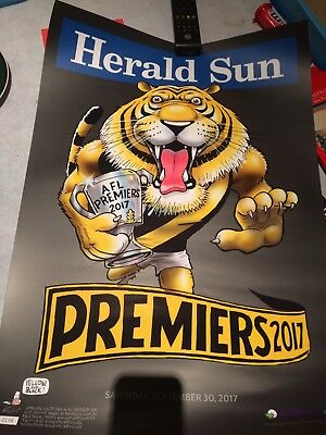 2017 RICHMOND BLACK LIMITED EDITION Premiership Poster - Mark Knight. Number 156