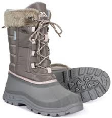 c5eb9cce4f088 TRESPASS LADIES WATERPROOF THERMAL WINTER SNOW BOOTS GREY BLACK 4-37 to 8-41