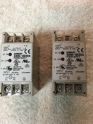 OMRON S82K-00324 DC24V 0.13A DC POWER SUPPLY UNIT ASSEMBLY (Lot of 2)