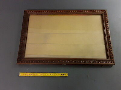 Antique Very Nice Frame Wooden Carved Vintage with Window French Antique Frame