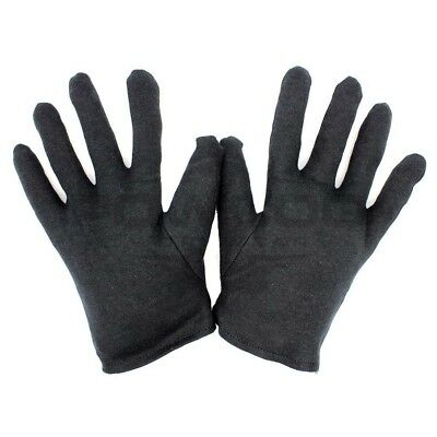 Black 100% Cotton Liner Gloves| Jewelers, Antiques, Photographers, Beauticians|5