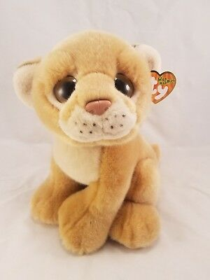 c64c56332f2 NEW TY WILD Wild Best Savannah Lion Cub Plush Big Eyes 2011 -  19.99 ...