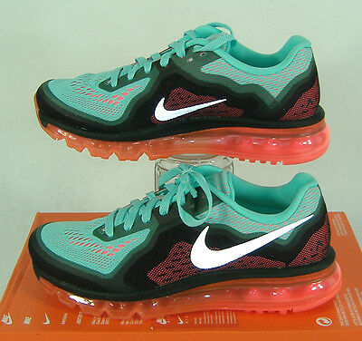 New Womens 8 NIKE Air Max 2014 Hyper Turquoise Punch Run Shoes $180 621078-303