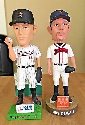 TWO Roy Oswalt Houston Astros Round Rock Express Bobblehead Bobble Head Lot