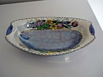 Vintage MALING Lustre Ware Long Bowl/Serving dIsh Model No 6526 (Len 11 inches)