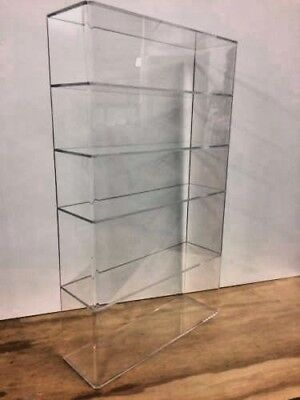 "Acrylic Lucite Countertop Display Case ShowCase Box Cabinet 14"" x 4 1/4"" x 24""h"