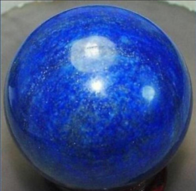 Beautiful Lapis Lazuli Healing sphere ball 45-50mm+stand    AAA01