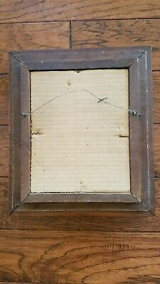 Antique Eastlake Ebony Walnut Deep Well Picture Frame w/original glass for 8x10
