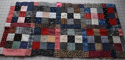 18 1880-90's 9 Patch quilt blocks, joined together, fabulous prints!