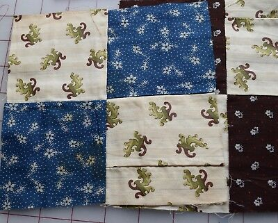 29 1890-1920 4 Patch quilt blocks, great selection of prints