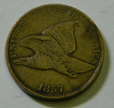 1857 Flying Eagle Cent, Sharp EF