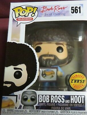 "Rare Brand New Pop, Tv, From ""the Joy Of Painting"" Bob Ross & Hoot Chase Variant"
