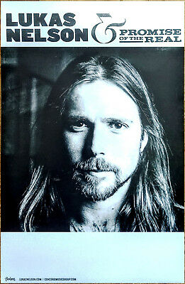 LUKAS NELSON & PROMISE OF THE REAL 2017 Ltd Ed RARE Poster +FREE Poster! Willie