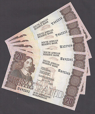 """South Africa R20 """"De Kock"""" Uncirculated Banknotes x 5 1984"""