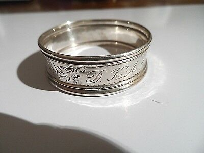 Beautiful Antique Solid Silver Chester Hallmarked Napkin Ring  c1899