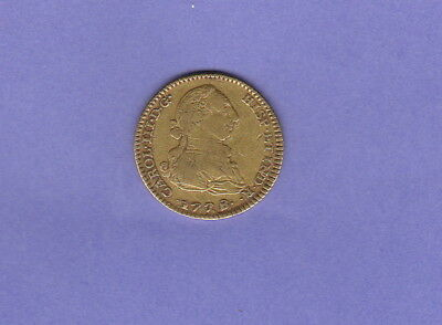 Spain,2 Escudos Gold Coin,1778-PJ,Nice Very Fine Condition Cat#417.1.W-1904