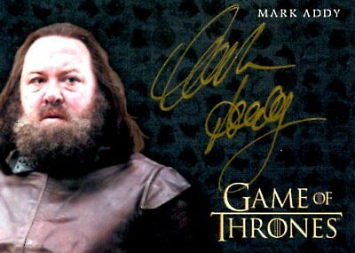 Game Of Thrones Valyrian Steel GOLD AUTOGRAPH card MARK ADDY as KING ROBERT