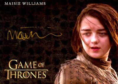 Game Of Thrones Valyrian Steel GOLD AUTOGRAPH card MAISIE WILLIAMS as ARYA STARK