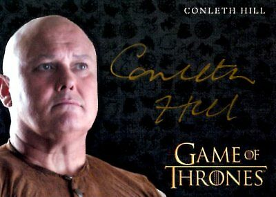 Game Of Thrones Valyrian Steel GOLD AUTOGRAPH card CONLETH HILL as LORD VARYS