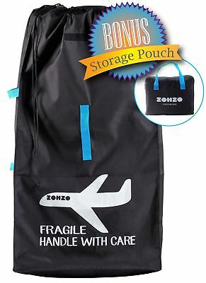 Zohzo Drawstring Stroller Travel Bag - For Air Travel with Double Stroller, S...