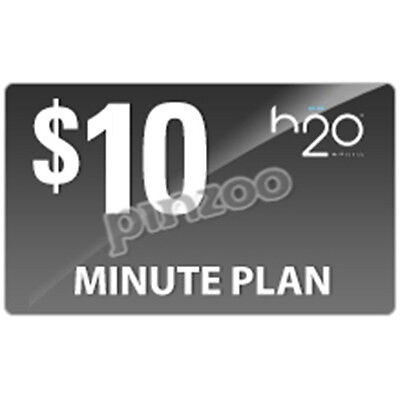 H2O Wireless Refill 200 Minutes 5¢/text 10¢/mms  Only $9.99