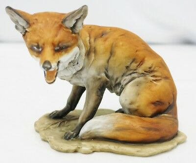 Signed KAISER W Germany Color Bisque Porcelain Fox Figurine 566 Seal