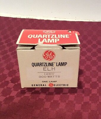 GE Quartzline Projection Lamp FHS Projector Bulb 82V 300W NOS in Box