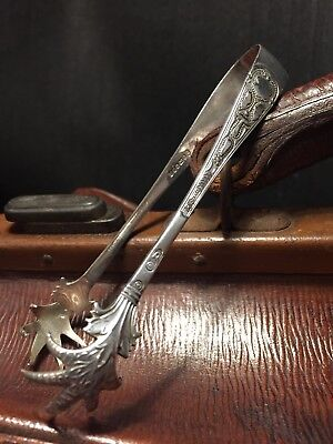 Beautiful Vintage Silver Plated Clawed Sugar Tongs