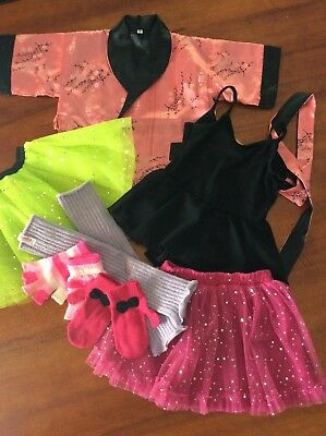 Girls Clothes Bulk Lot Sz 3/4. Dance Wear, Chinese Jacket, Angelina Ballerina