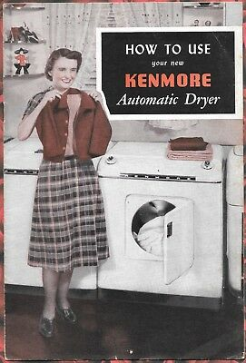 1952 Kenmore Automatic Dryer Manual Sears Roebuck and Co.