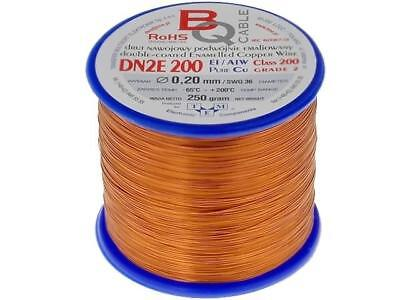 DN2E0.20/0.25 Coil wire double coated enamelled 0.2mm 0,25kg BQ CABLE