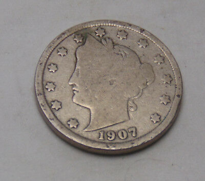 1907 Liberty V Nickel (FREE SHIPPING OFFER) A