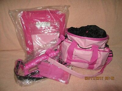 ** HAY BALE Bag, GROOMING bag & Accessories ** PINK ** Horse or Pony